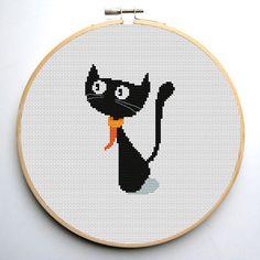 Cross stitch pattern PDF Surprised cat by CrossStitchForYou