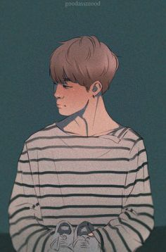 Jimin Fanart, Kpop Fanart, Character Art, Character Design, Art Corner, Bts Drawings, Korean Art, Girl And Dog, K Idols