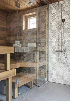 Saunapaneelien ja lauteiden sävy Bath Decor, Room Decor, Cabana, Sauna House, Architecture Renovation, Japanese Bathroom, Sauna Design, Spa Rooms, Style Japonais
