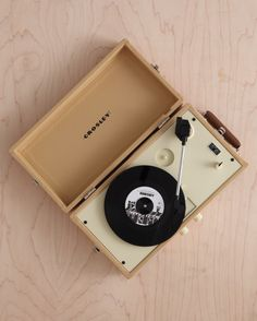 Before he takes you for a spin on the dance floor, let him take his collection of old vinyls for a spin on this mini turntable.Crosley Mini Turntable, $75.63; amazon.com.