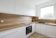 & & & & Kitchen with high zabudow - Darex Szczecin Small Modern Kitchens, Modern Kitchen Interiors, Modern Kitchen Cabinets, Home Decor Kitchen, Home Kitchens, Grey Kitchen Designs, Kitchen Design Open, Kitchen Cabinet Design, Interior Design Kitchen