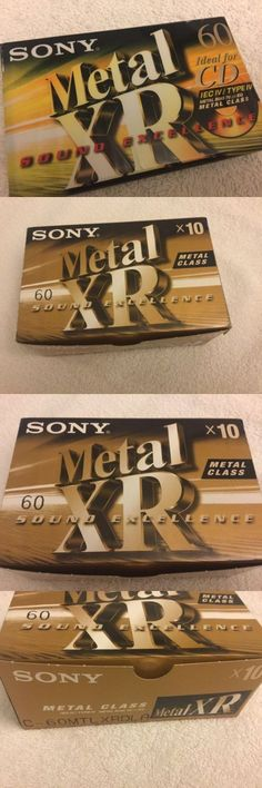 Cassette Tape Decks: 10 Sony Xr Type Iv Metal Audio Cassette Tapes New Lot -> BUY IT NOW ONLY: $199.9 on eBay!
