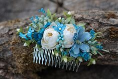 Hair Combs – Flower hair comb, wedding hair comb – a unique product by evafleur on DaWanda