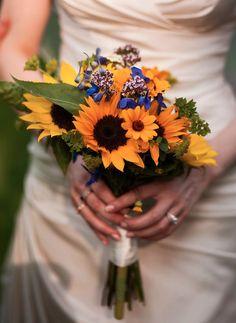 sunflowers and wildflowers