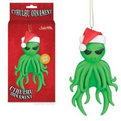 Cthulhu Christmas Tree Ornament H. Lovecraft Xmas Alien Hanging Holiday Comes in a cool illustrated box and is packaged for gift giving. putting Cthulhu on your tree balances out all your happy ornaments. attached string makes for easy hanging. Modern Christmas Decor, Dark Christmas, Christmas Items, Santa Christmas, Christmas Sweaters, Christmas Crafts, Christmas Things, Halloween Crafts, Hp Lovecraft