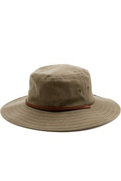 Camp Hat Waxed Olive