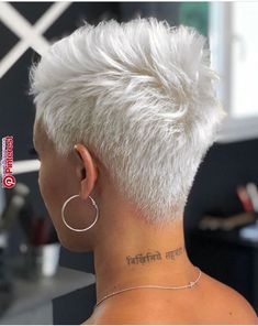 56 Stylish Short Hair Style For Female-Short Pixie Haircut - Page 10 of 56 - Latest Fashion Trends For Woman Stylish Short Hair, Short Grey Hair, Short Hair Cuts, Short Hair Styles, Natural Hair Styles, Short Blonde Pixie, Short Wavy, Short Pixie Haircuts, Pixie Hairstyles