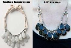 DIY Tutorial DIY Jewelry / DIY Anthropologie Inspired Button Bib Necklace - Bead&Cord