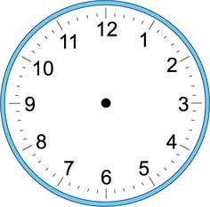 Large Blank Clock Template | Handwriting for Kids - Math - Time - Craft Clock - Make Your Own Clock