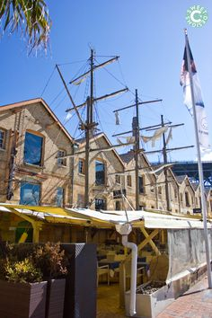 Restaurants on the harbour- Sydney Australia. Love how it looks like a pirate ship!
