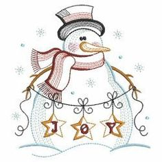 Vintage Snowman 6 03(Md) machine embroidery designs