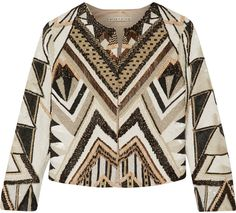 Alice + Olivia Lainey Embellished Silk Jacket