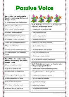 Passive Voice exercises - English ESL Worksheets for distance learning and physical classrooms English Vocabulary Words, English Words, English Grammar, English Language Learning, Teaching English, Verbo Can, All Tenses, Active And Passive Voice, English Activities