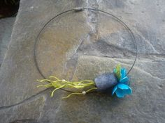 hand made silk cocoons jewelry -necklace No33