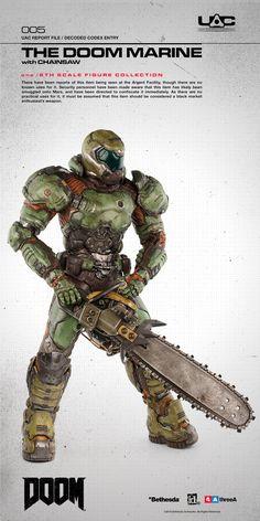 More Detailed Look at 3A's Doom Marine Figure - The Toyark - News