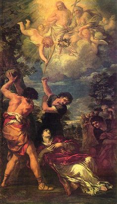 The Stoning of St. Stephen by Pietro da Cortona.
