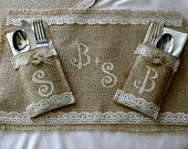 Bride and Groom table setting, Burlap wedding table decorations, country rustic, Garden, woodland cottage, French country weddings