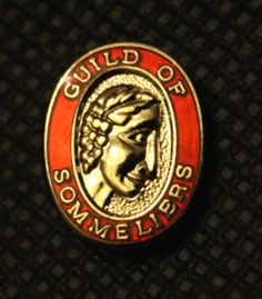 Guild of Sommeliers pin earned after completing the Court of Master Sommeliers introductory course. #wine