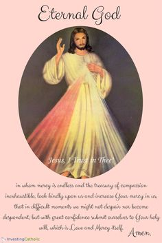 Jesus, I Trust In You!  #Jesus #DivineMercy #Catholic #Love #Faith #SaintFaustina