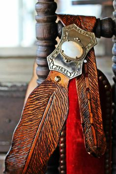 The Knox - Hand tooled, custom feather belt -