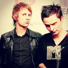 Dominic Howard & Matthew Bellamy of Muse #MTVawards #music