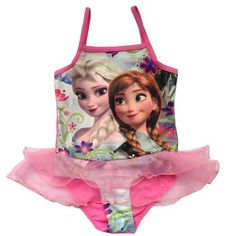 frozen swim suit elsa and anna by KaiMariesClothing on Etsy, $24.99