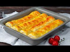 Gyors és laktatós! Készíts akár 2 tepsivel is- ízletes falatok leveles tésztából  Cookrate - YouTube Hot Dog Buns, Hot Dogs, Buffet, Strudel, Appetizers, Food And Drink, Tasty, Bread, Snacks