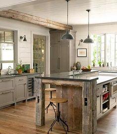 Use of old barn board. Inspiring