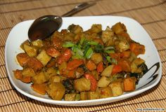 Ein Kürbis Curry aus der Gastrolux Pfanne. Diese ist durch ihre Höhe perfekt für ein Curry wie dieses geeignet.