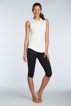 Kate Hudson's line; like the tank details. Only 1 colour but the sports bra and the pants have other colour options.