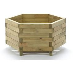 Wooden Hexagonal Planter at Homebase -- Be inspired and make your house a home. Buy now.