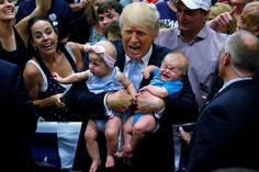 Donald Trump Hates Babies: Why Bad Parents Make Bad Presidents Donald Trump, Political Consultant, Trump New, Photos Of The Week, Cry Baby, Photos Du, Young People, Childcare, Rolling Stones