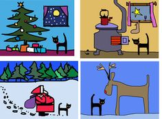 Xmas card pack two by Colin Ruffell