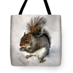 "Mr. Squirrel Tote Bag 18"" x 18"""