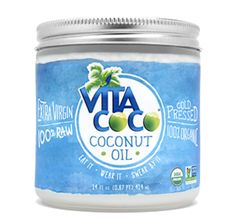 Vita Coco Coconut Oil Extra Virgin Description Eat It • Wear It • Swear By It Extra Virgin 100% RAW 100% USDA Organic Cold Pressed Directions Uses: A gazillion percent less cholesterol than butter (in