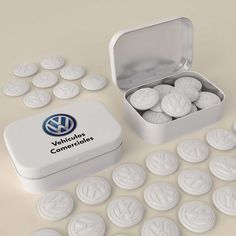 Innovative custom shaped mints combined with unique packaging will help your brand stand out. Make your mints any shape. Mold your logo into the mint. Package the mints in tins, ad cards, boxes and more. Small Tins, Tin Boxes, E Design, Screen Printing, Gadgets, Packaging, Mint, Shapes, Make It Yourself