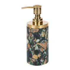 Discover The Nordal Marble Chips Brass Soap Dispenser   Green At Amara · Bathroom  AccessoriesAccessories ...