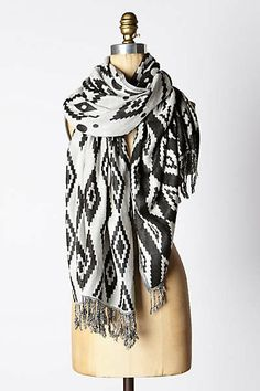 Why do I love scarfs, & everyone this store has?! Anthropologie - Tita Jacquard Scarf