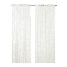 The sheer curtains let the daylight through but provide privacy so they are perfect to use in a layered window solution. .  $20.00