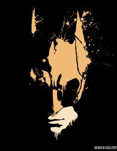 Batman Print - Canvas Print (8x10). $25.00, via Etsy.
