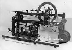 Spinning Mule. Invented by Samuel Crompton. Used to spin fibers to increase production. 1775.