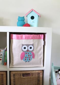 Owl Storage Hamper - Children's Bedroom & Nursery Interiors | Little Blue Owl