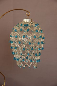 beaded christmas ornaments free patterns | Beaded Christmas Ornaments - Desert Beads