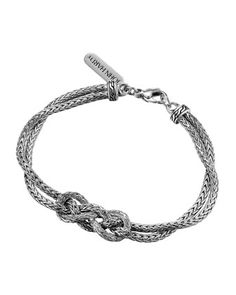 From the John Hardy Classic Chain Collection. Two woven chain strands with love knot station. Handcrafted in Bali. Sterling Silver Name Necklace, Silver Necklaces, Silver Earrings, Silver Jewelry, Silver Ring, John Hardy Jewelry, Harry Potter Jewelry, Custom Jewelry Design, Contemporary Jewellery