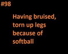 Softball problems.❤️ my favorite.