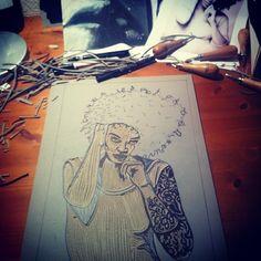 #bickelgrafik#illustration#linocut#linoprint#graphic#design#girl#tattoo#woman#ink