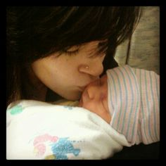 Kisses for my perfect baby boy.