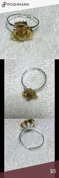 ‼️SALE‼️ Cute Yellow Rose Ring These little rose rings are quirky and pretty! They are adjustable, so one size fits all. These are perfect for bundling! Check out my closet for more colors and other coordinating jewelry! Jewelry Rings