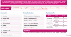 TS EAMCET Hall Ticket 2020 Released for 07 September Engineering Exam Exam Day, Exam Time, Engineering Exam, Jawaharlal Nehru University, Voter Card, School Hall, Mock Test, Entrance Exam, Question Paper