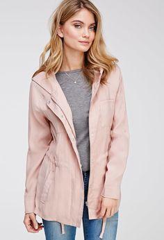 Chaqueta Twill con Capucha - chaquetas y abrigos - 2049258929 - Forever 21 EU